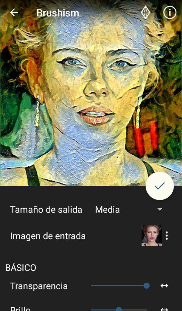 Convertir foto en dibujo - Scarlett Johansson Painnt