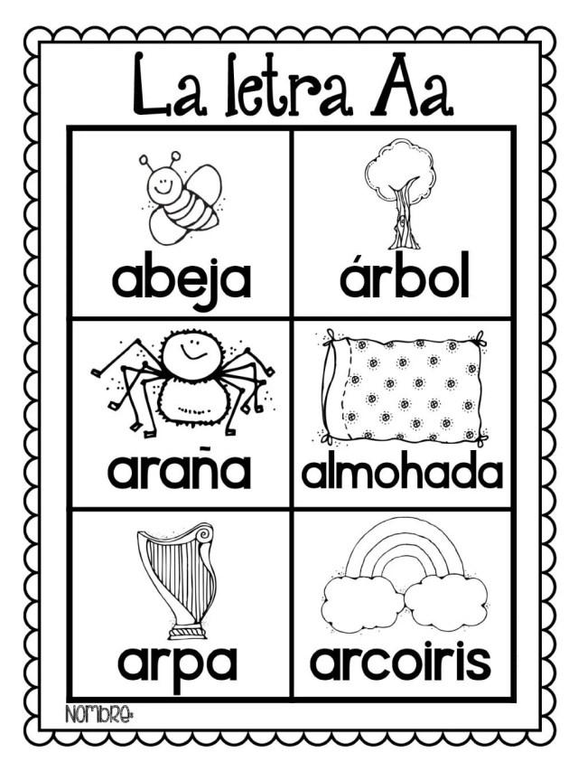Dibujos para pintar y aprender el abecedario y los números