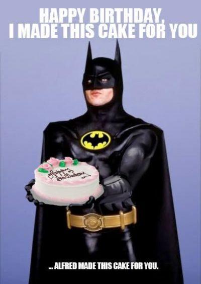 44 Meme cumpleaños Batman tarta