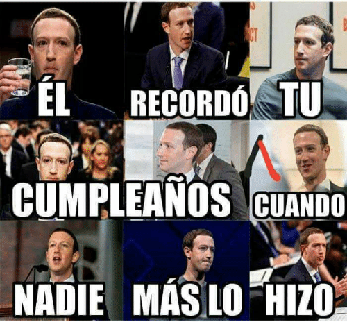 Cumpleaños Zuckerberg Facebook℗ meme