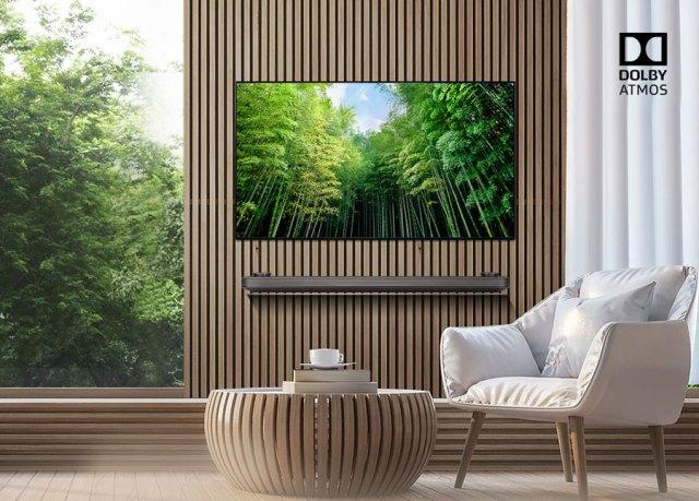 LG OLED televisores para fútbol atmos