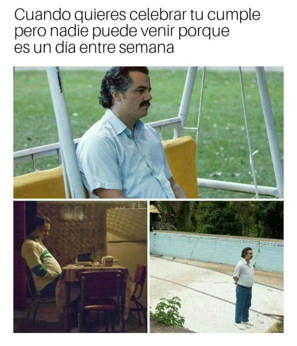 Pablo Escobar meme cumple birthday 02