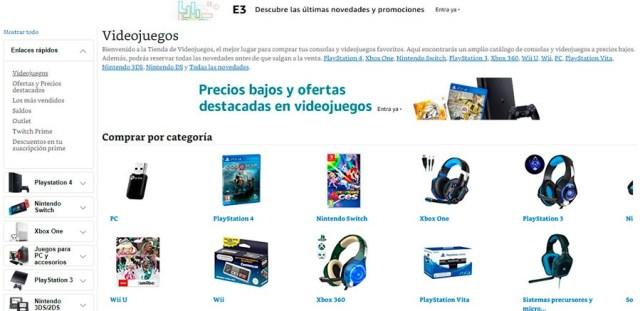 5 tiendas online para adquirir games a buen precio(valor) Amazon