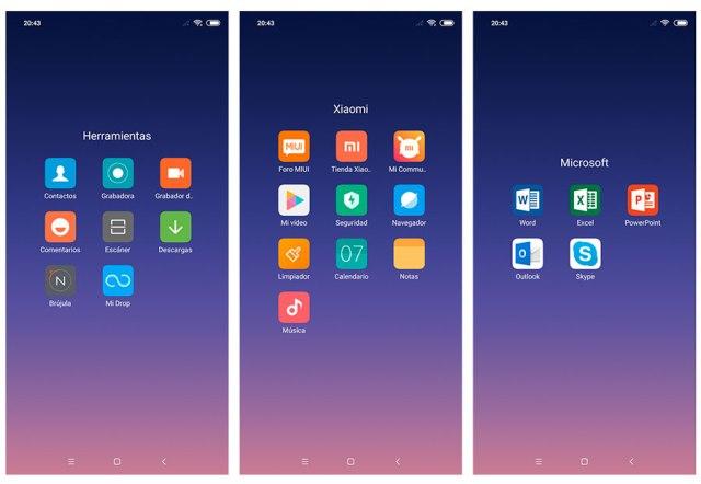 hemos probado Xiaomi℗ Mi 8 apps preinstaladas