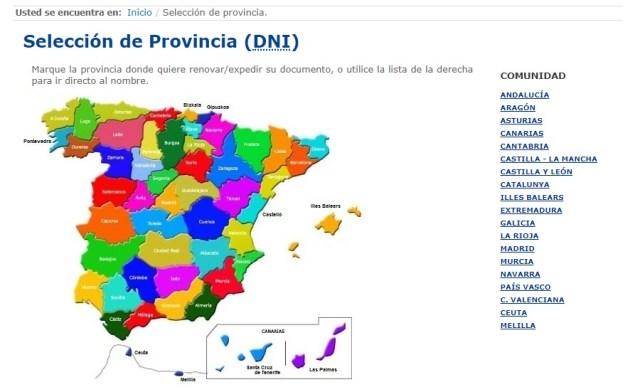 provincia dni