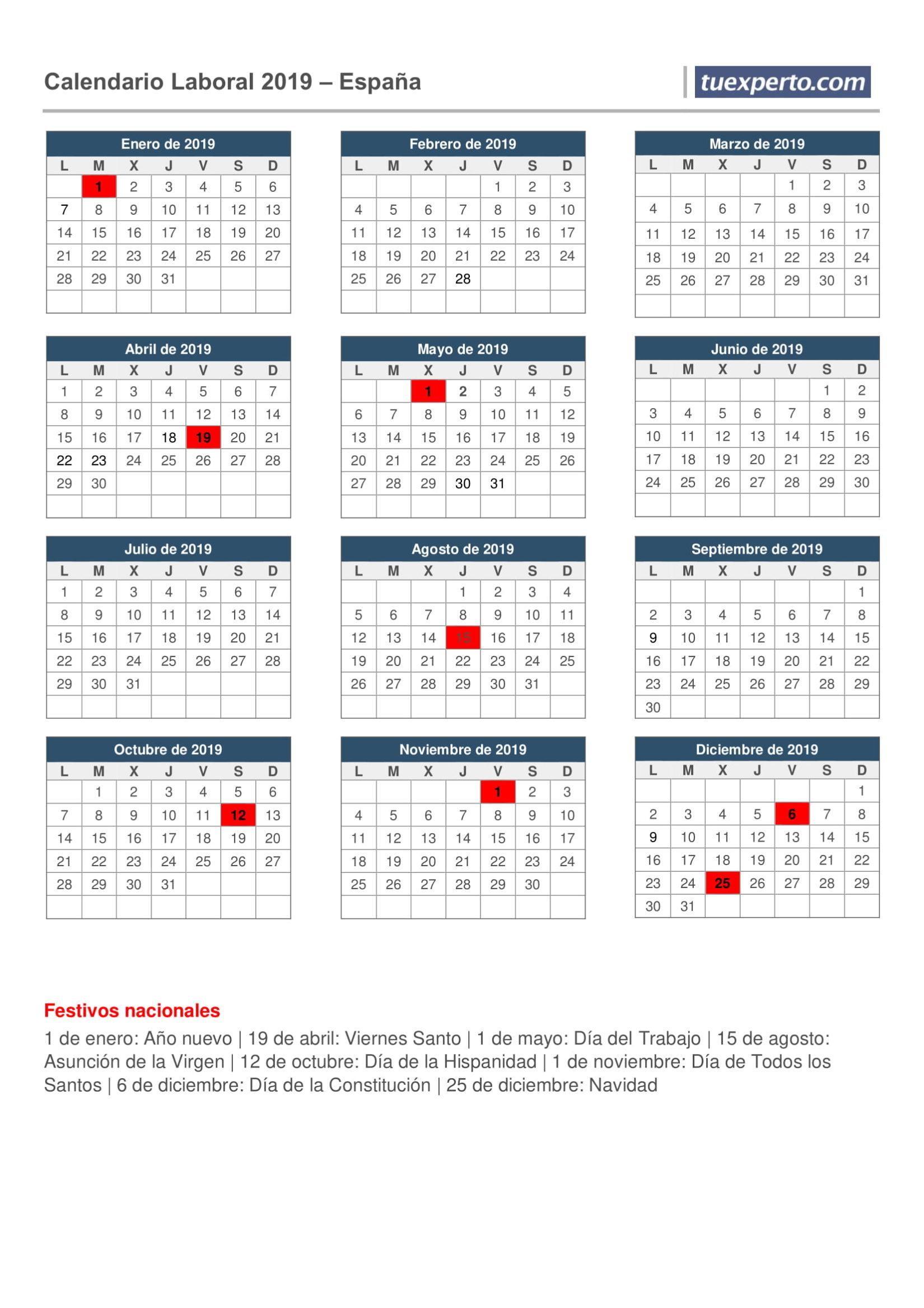 Calendario de México del 2019 | ¿Cuándo en el Mundo?