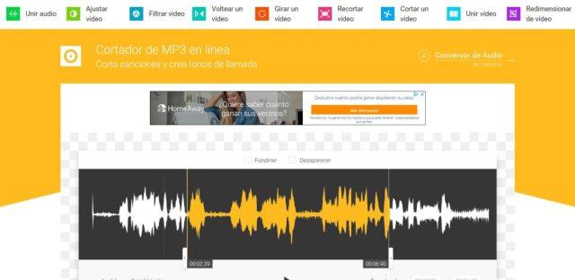 recortar canciones mp3 online en español