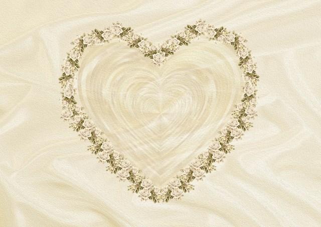 invitacion boda corazon beige