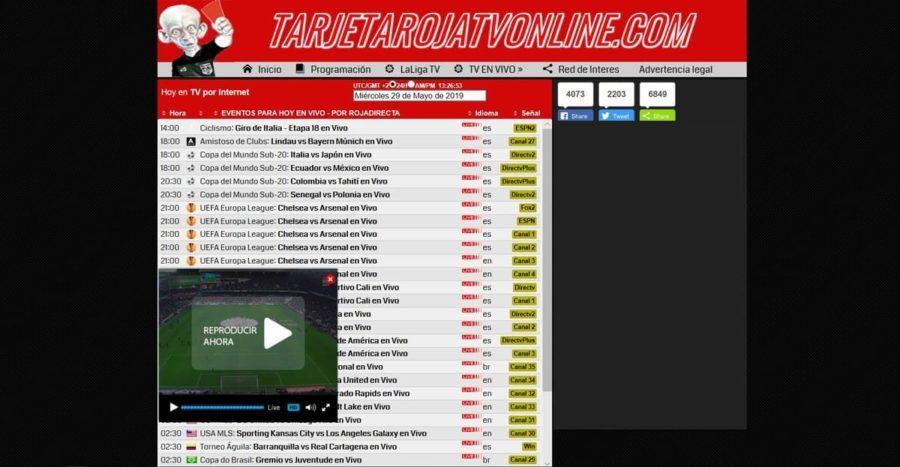 Las 10 mejores alternativas a Tarjeta Roja online para ver fútbol