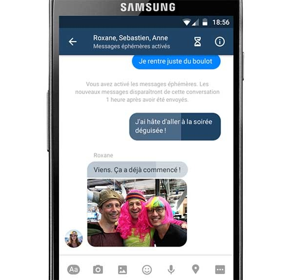 facebook mensajes efímeros