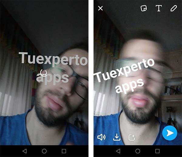 snapchat anclar texto