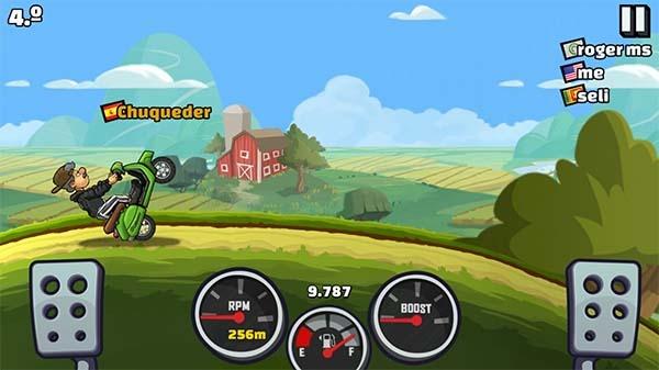 hill climb racing dos trampas rueda de atrás