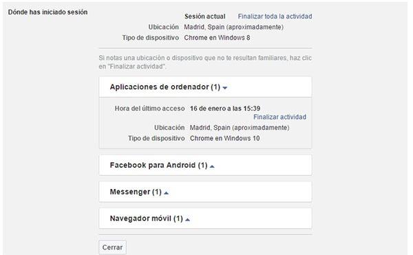 facebook inicio de sesión