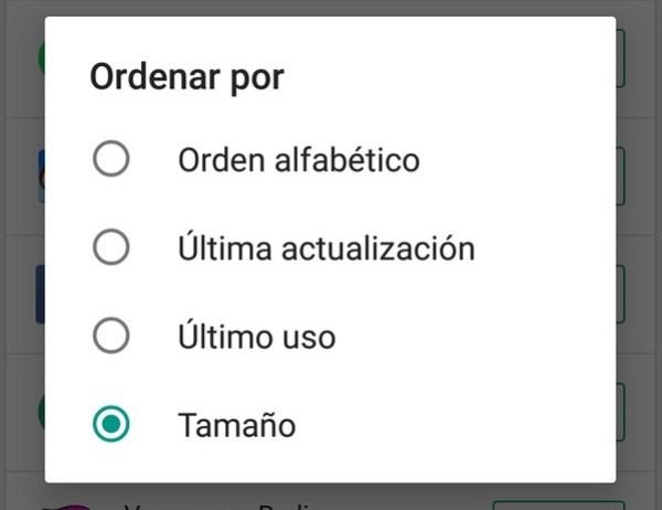 como ordenar las aplicaciones android