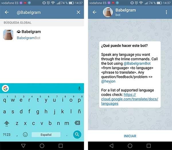 BabelgramBot telegram