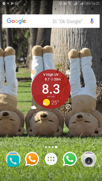uv index widget android