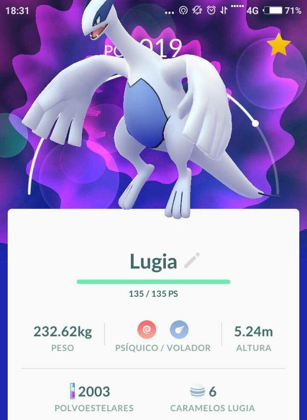 Lugia Pokémon GO Legendario