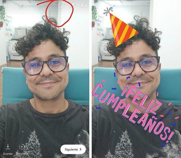feliz cumpleaños instagram stories