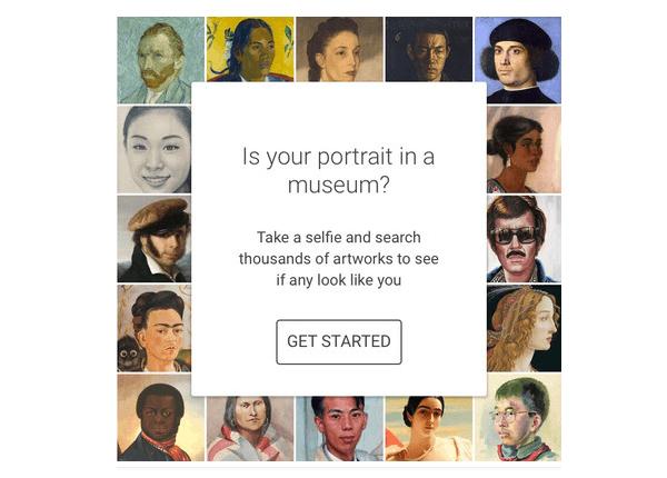 Google actualmente te prueba en qué cuadros aparece vos cara con un selfie