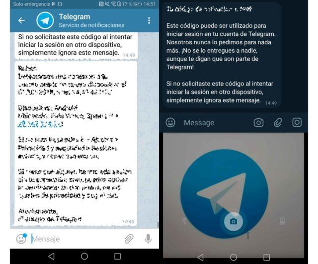 Telegram X camara en chat