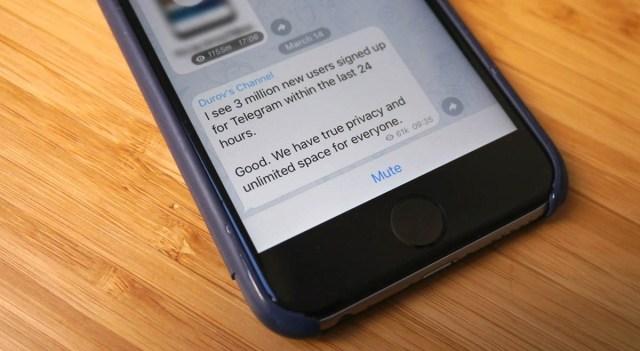 Telegram gana tres millones de consumidores mientra los fallos de ©Facebook y WhatsApp