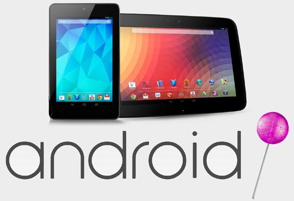 Nexus 7 con la actualización de Android 5.1 Lollipop