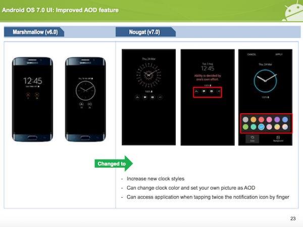 Samsung guia Nougat