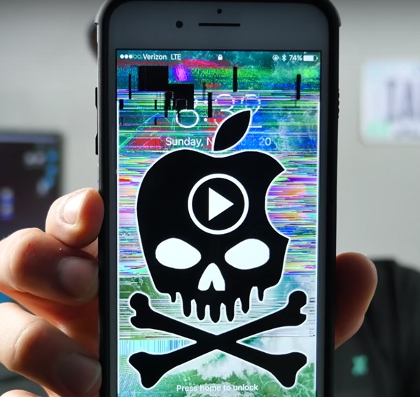 video bloquea iPhone