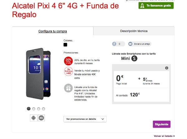 ofertas Vodafone navidad Alcatel