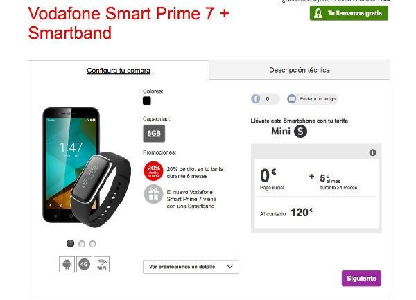 ofertas Vodafone navidad smartband