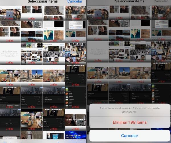 espacio iPhone 7 fotos