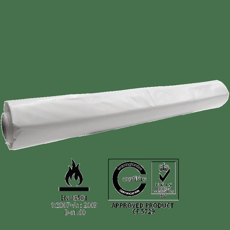BC08 300 micron Flame retardant Scaffold Shrink-wrap
