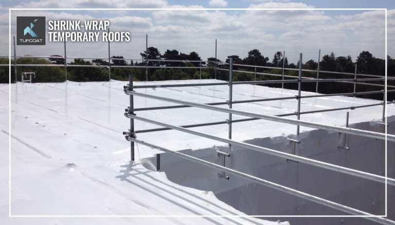 Temporary shrink-wrap roof
