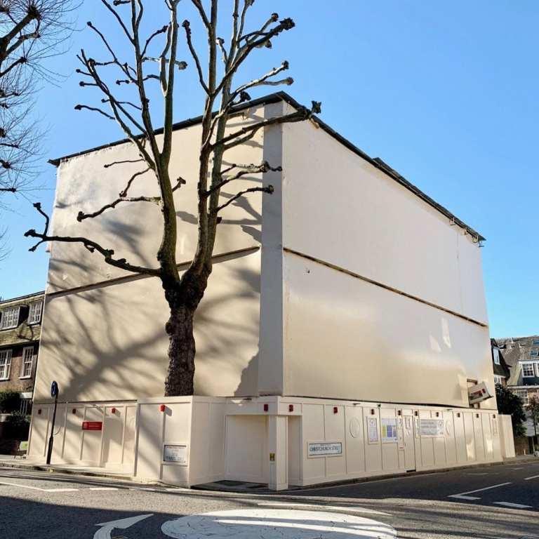 Cream Shrink-wrap on London Development