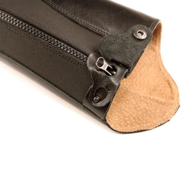 This is our Flagship gaiter, it offers high comfort teamed with a polished, show ring finish. It is one of the closest fitting gaiters on the market, made of superior cow leather with a pig skin lining.It also has a YKK™ zip and a Tuffa zip lock at the top of the gaiter.The zip lock stops your zip undoing itself while saddled, enabling you to get on with the job of riding!The new front stretch panel also offers a superb fit around the ankle.Boots which team well with the Lipizzaner are the Morgan boots. Outer: Aniline LeatherLining: LeatherFastener: YKK™ heavy duty zipAdditional features: Ankle expansion zone, zip lockColour: BrownSizes: XXS – XL standard and short lengths available