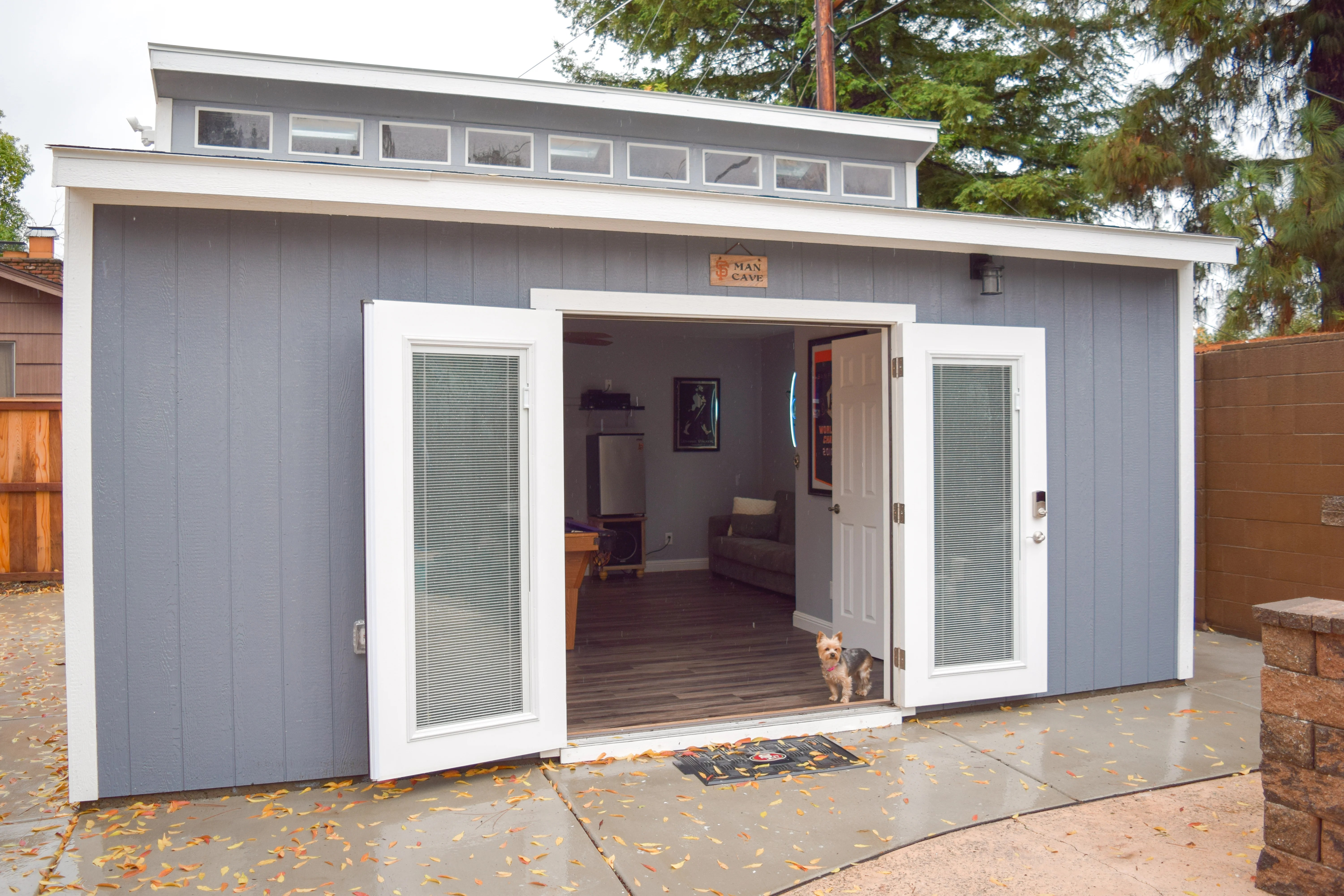 Manuel's Man Cave - Tuff Shed on Man Cave Patio Ideas  id=72150