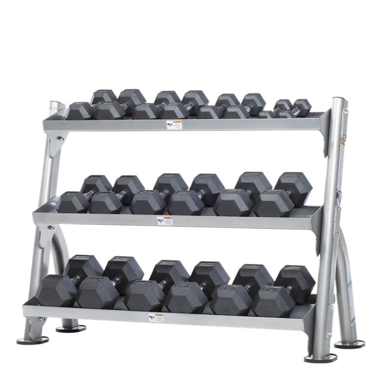 evolution 2 tier tray dumbbell kettlebell rack