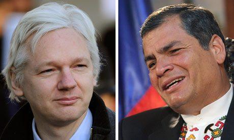 Assange: media apontam para o asilo ter sido aprovado mas Presidente do Equador não confirma
