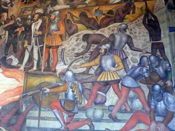Mural de Diego Rivera en el Palacio Nacional de Ciudad de México. Foto (c) Tu Gran Viaje
