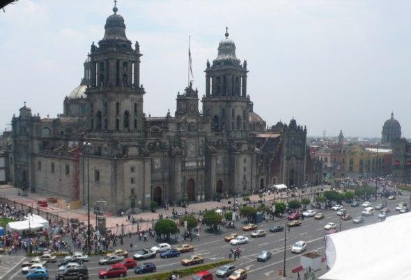 Catedral Metropolitana de Ciudad de México vista desde la terraza del Hotel Majestic. Foto (c) Tu Gran Viaje