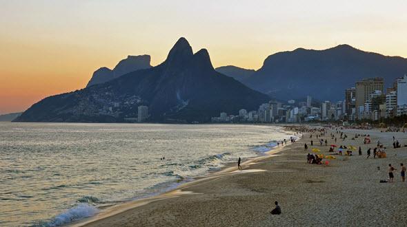 La playa de Ipanema, en Río de Janeiro, es una de las más bellas del mundo