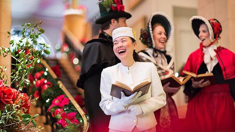 Navidad en el Peninsula Hotel de Hong Kong