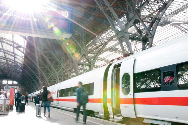 Estación de Leipzig de Deutsche Bahn