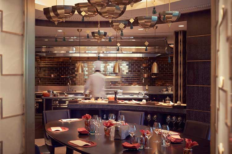 Comedor privado del restaurante Arola del Raffles Istanbul