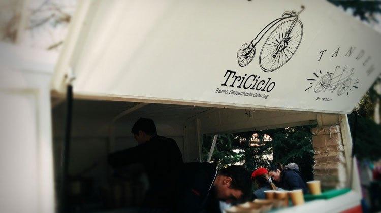 Triciclo en MadrEAT. Foto de Jesús Viiladóniga
