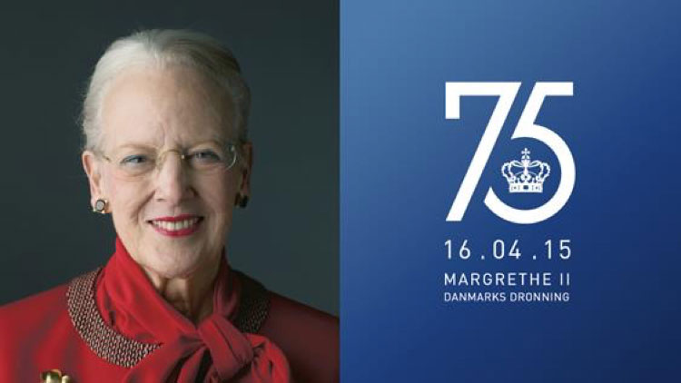 75º Cumpleaños de La Reina Margarita II de Dinamarca