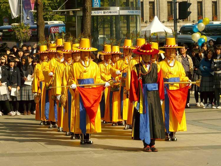 Ceremonia del Relevo de la Guardia en Seúl