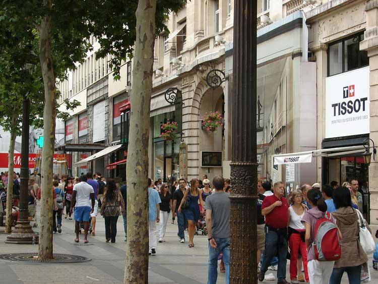 La Avenida Champs-Élysées de París