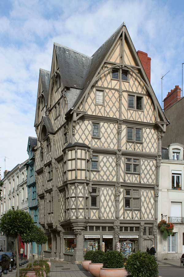 Maison d'Adam de Angers. Foto CC Coyau. Tu Gran Viaje por el Valle del Loira
