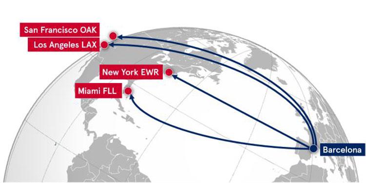 Nuevos vuelos de Norwegian desde Barcelona a Estados Unidos. Tu Gran Viaje